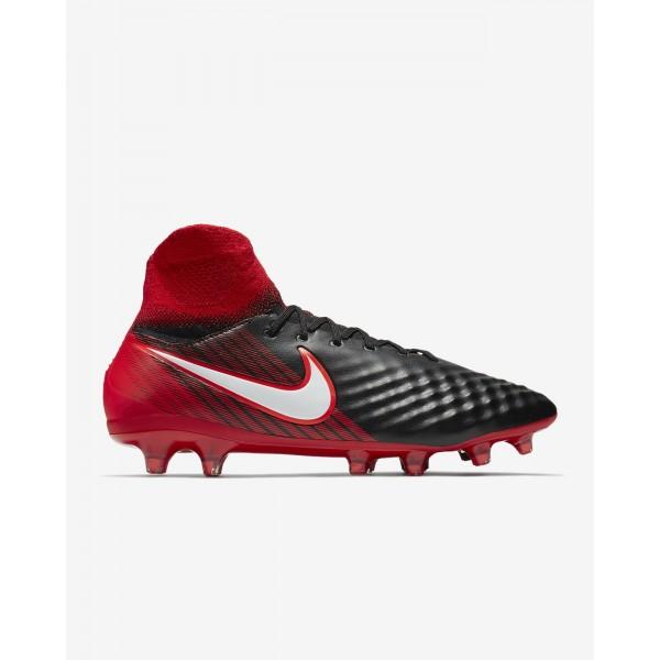 Nike Magista Orden II Fg Fußballschuhe Damen Schwarz Rot Weiß 999-87778