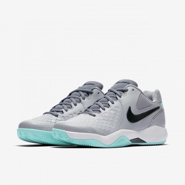 Nike Court Air Zoom Resistance Tennisschuhe Herren Grau Weiß Grün Schwarz 708-81684