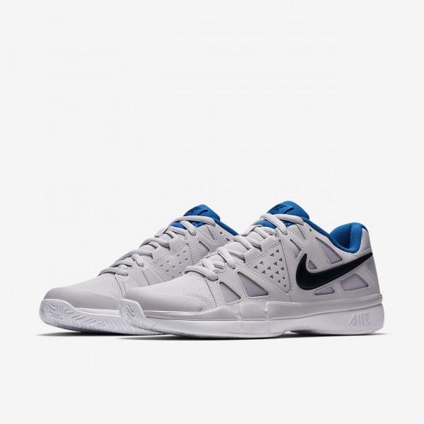 Nike Court Air Vapor Advantage Tennisschuhe Herren Grau Weiß Blau Schwarz 726-67647