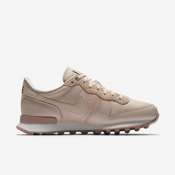 Nike Internationalist Premium Freizeitschuhe Damen Beige Weiß Pink 881-88306