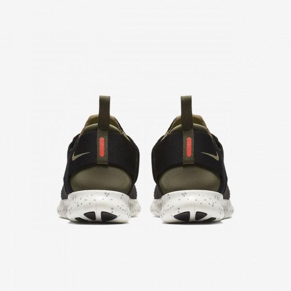 Nike Free Rn Commuter 2017 Utility Laufschuhe Damen Schwarz Khaki Orange Olive 991-20343