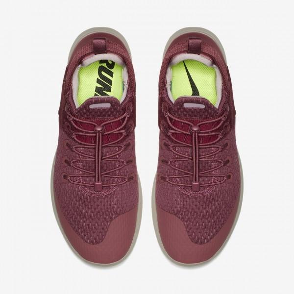Nike Free Rn Commuter 2017 Laufschuhe Damen Rot Bordeaux Rosa 705-13167