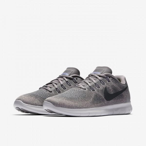 Nike Free Rn 2017 Laufschuhe Damen Weiß Grau Lila Schwarz 646-71862