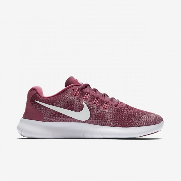 Nike Free Rn 2017 Laufschuhe Damen Rot Rosa Weiß 824-46754