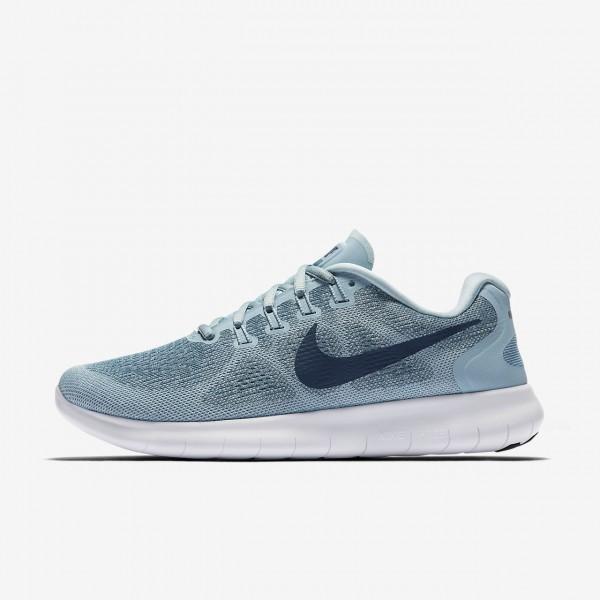 Nike Free Rn 2017 Laufschuhe Damen Blau Weiß Navy...