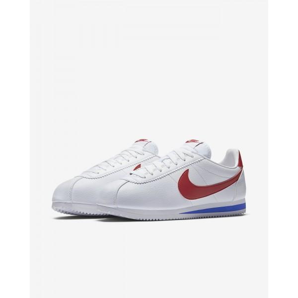 Nike Classic Cortez Freizeitschuhe Herren Weiß Königsblau Rot 892-45327