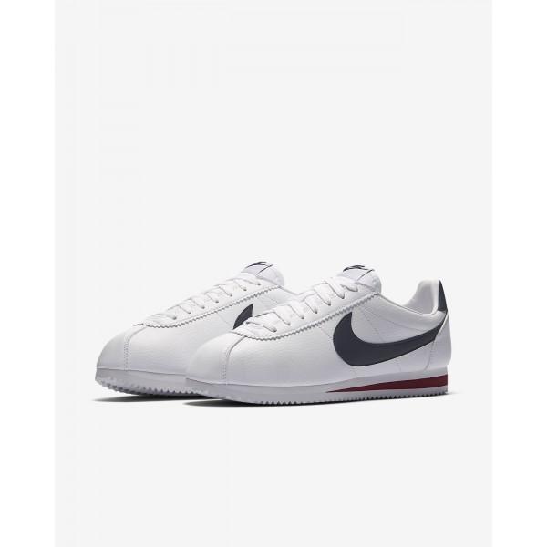 Nike Classic Cortez Freizeitschuhe Herren Weiß Rot Navy 706-50104