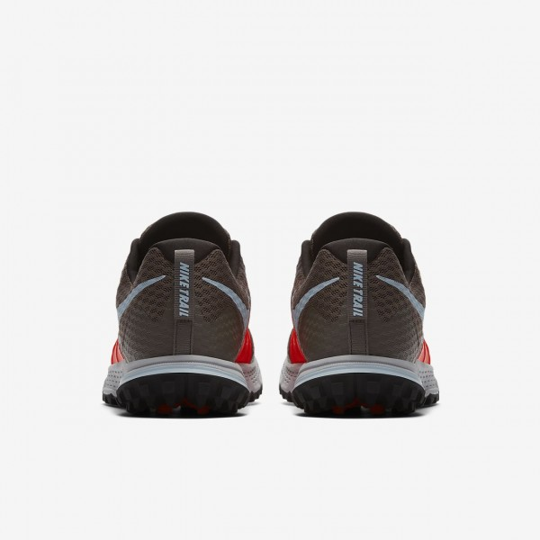Nike Air Zoom Wildhorse 4 Laufschuhe Herren Grau Rot Schwarz Blau 872-42393