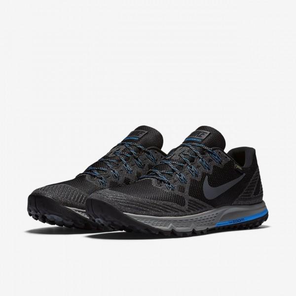 Nike Air Zoom Wildhorse 3 Gore-tex Laufschuhe Herren Schwarz Blau Grau 904-20835