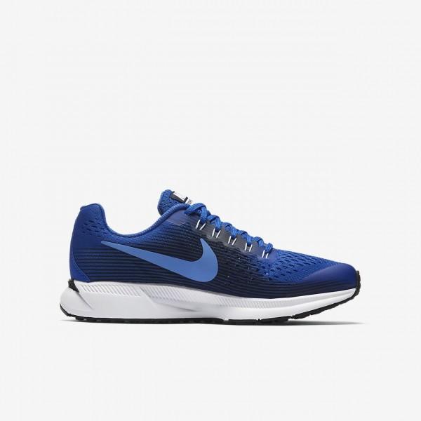 Nike Zoom Pegasus 34 Laufschuhe Jungen Königsblau Obsidian 459-10761