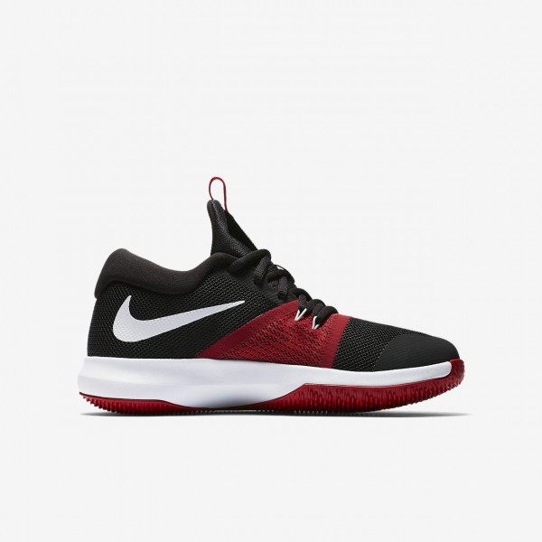 Nike Zoom Assersion Basketballschuhe Jungen Schwarz Rot Platin 496-56176