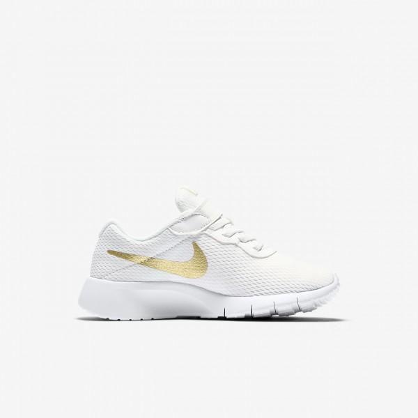 Nike Tanjun Freizeitschuhe Jungen Weiß Metallic Gold 800-87449