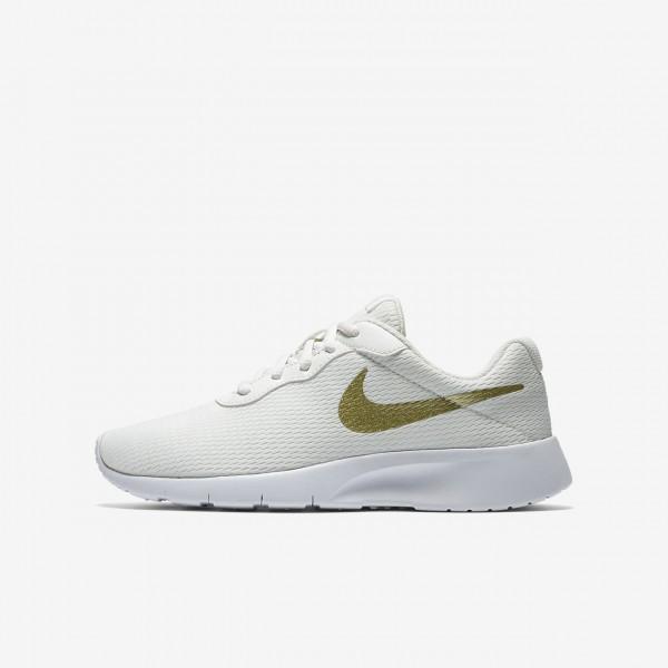Nike Tanjun Freizeitschuhe Jungen Weiß Metallic G...