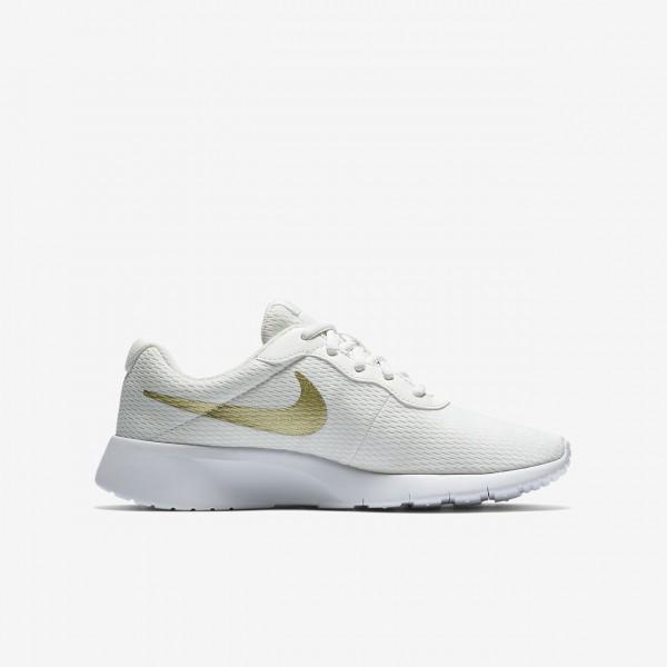 Nike Tanjun Freizeitschuhe Jungen Weiß Metallic Gold 757-27257