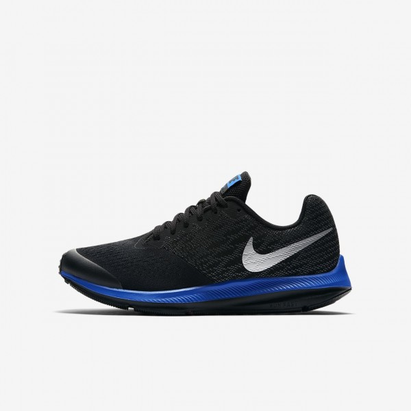 Nike Zoom Wio 4 Laufschuhe Jungen Schwarz Grau Bla...