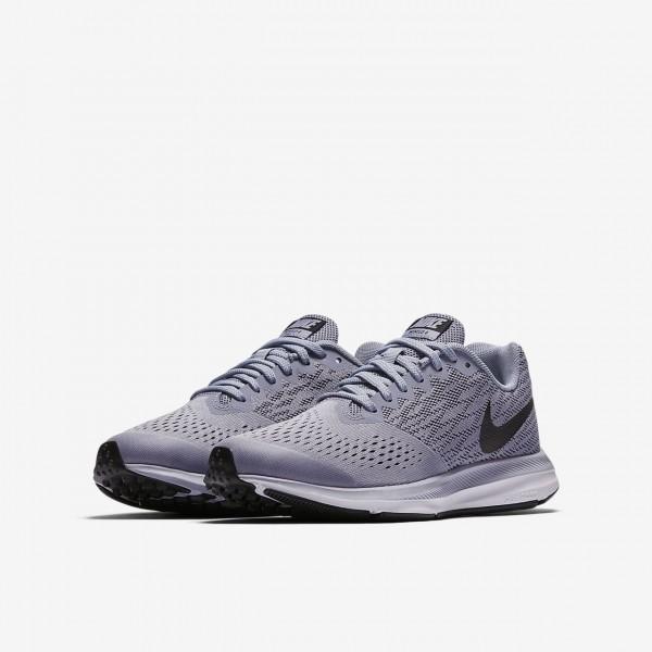 Nike Zoom Wio 4 Laufschuhe Jungen Grau Schwarz Weiß 224-81166
