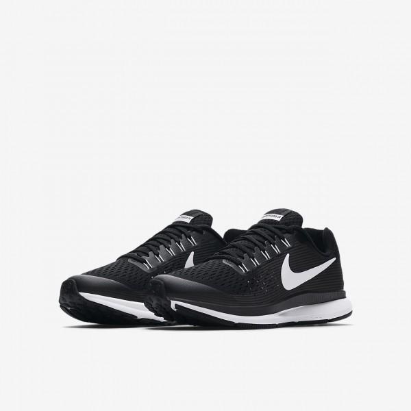 Nike Zoom Pegasus 34 Laufschuhe Jungen Schwarz Dunkelgrau Weiß 323-15809