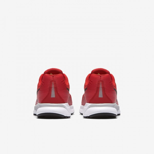 Nike Zoom Pegasus 34 Laufschuhe Jungen Rot Grau Schwarz 640-34695
