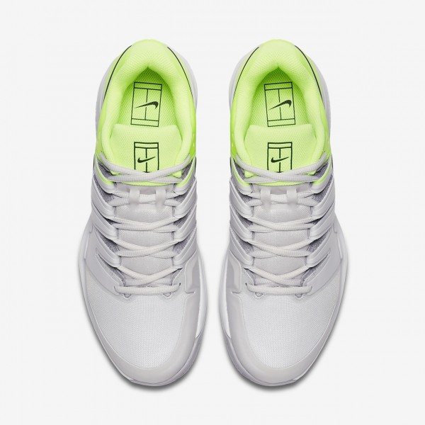 Nike Air Zoom Vapor X Clay Tennisschuhe Herren Grau Grün Schwarz 725-53350