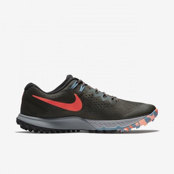 Nike Air Zoom Terra Kiger 4 Laufschuhe Herren Schwarz Grau Rosa 332-37782