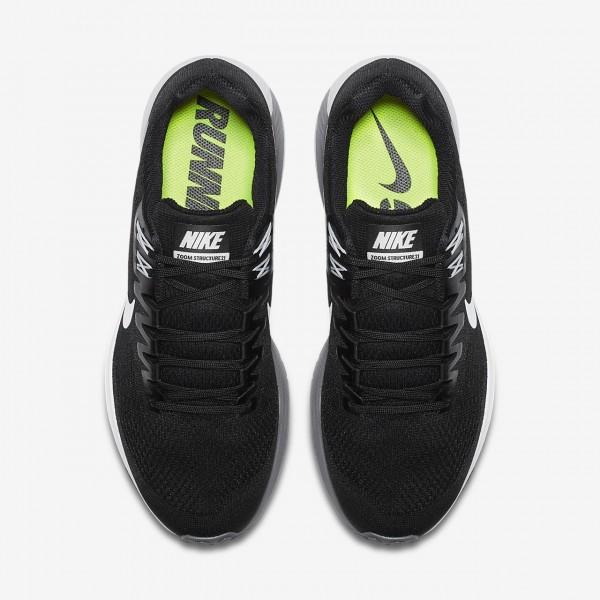 Nike Air Zoom Structure 21 Laufschuhe Herren Schwarz Grau Weiß 911-28652