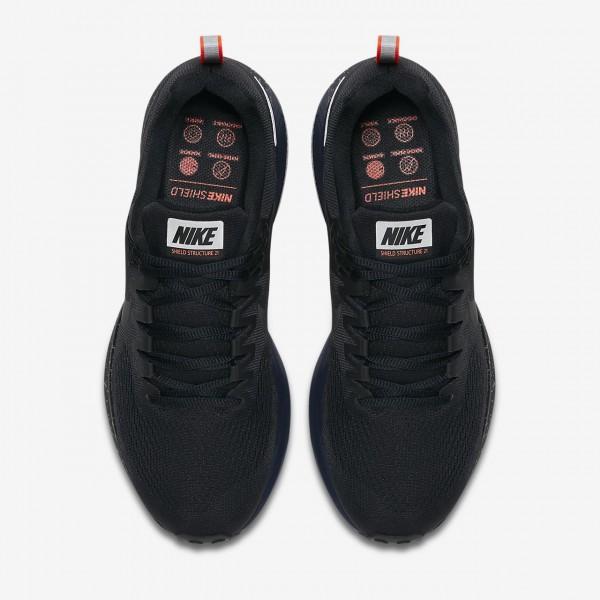 Nike Air Zoom Structure 21 Shield Laufschuhe Herren Schwarz Obsidian 198-63188