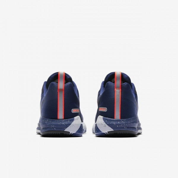 Nike Air Zoom Structure 21 Shield Laufschuhe Herren Blau Grau Obsidian 220-75955