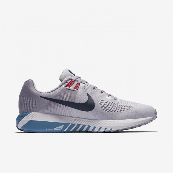 Nike Air Zoom Structure 21 Laufschuhe Herren Grau Blau 654-40149