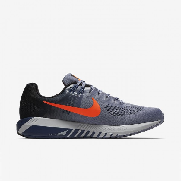 Nike Air Zoom Structure 21 Laufschuhe Herren Dunkelblau Schwarz Navy Rot 125-68715