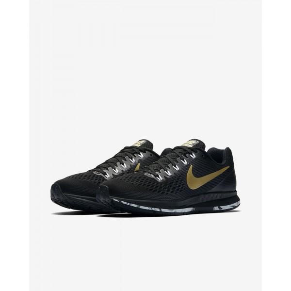 Nike Air Zoom Pegasus 34 Laufschuhe Herren Schwarz Weiß Metallic Gold 119-71382