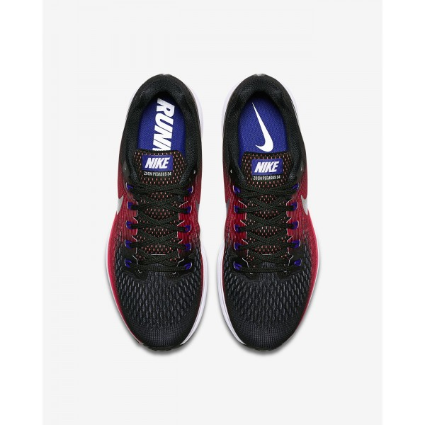 Nike Air Zoom Pegasus 34 Laufschuhe Herren Schwarz Rot Metallic Silber 616-58293