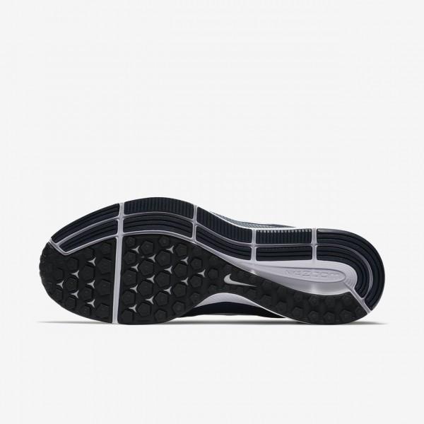 Nike Air Zoom Pegasus 34 Laufschuhe Herren Obsidian Blau Schwarz Weiß 431-76294