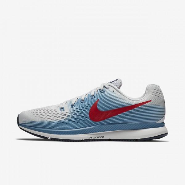 Nike Air Zoom Pegasus 34 Laufschuhe Herren Grau Bl...