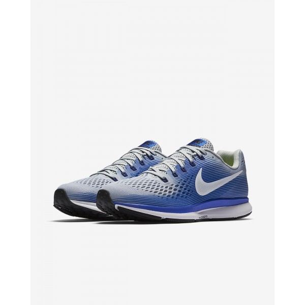 Nike Air Zoom Pegasus 34 Laufschuhe Herren Grau Blau Tiefes Königsblau Blau Weiß 276-98180