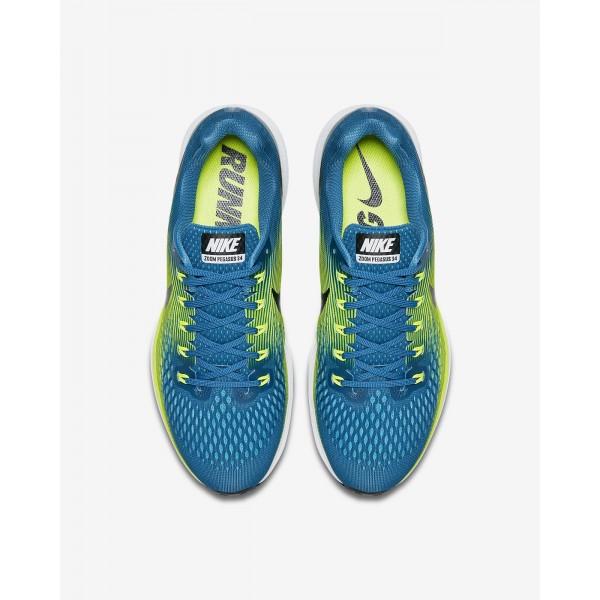 Nike Air Zoom Pegasus 34 Laufschuhe Herren Blau Grün Schwarz 694-68779