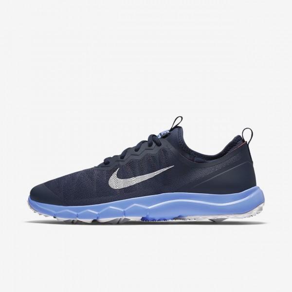 Nike Fi Bermuda Golfschuhe Damen Navy Blau Rot Wei...