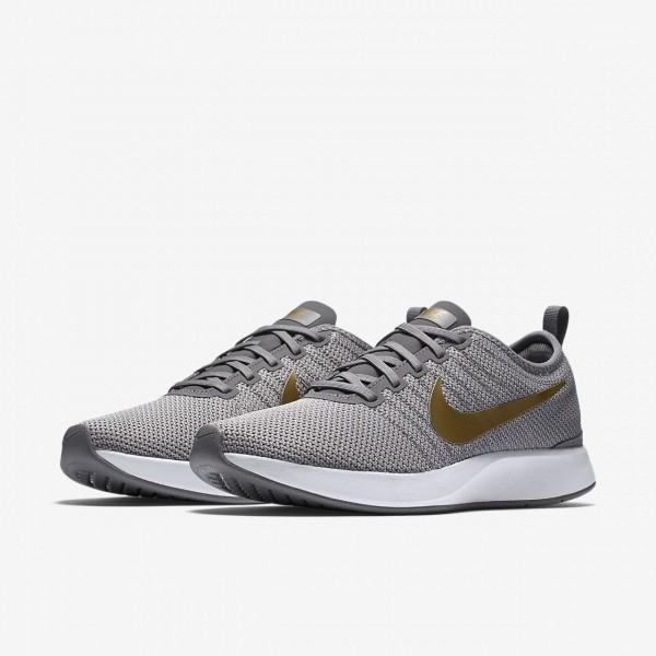 Nike Dualtone Racer Se Freizeitschuhe Damen Weiß Grau Metallic Gold 802-94095