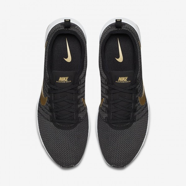 Nike Dualtone Racer Se Freizeitschuhe Damen Schwarz Dunkelgrau Weiß Metallic Gold 248-60421