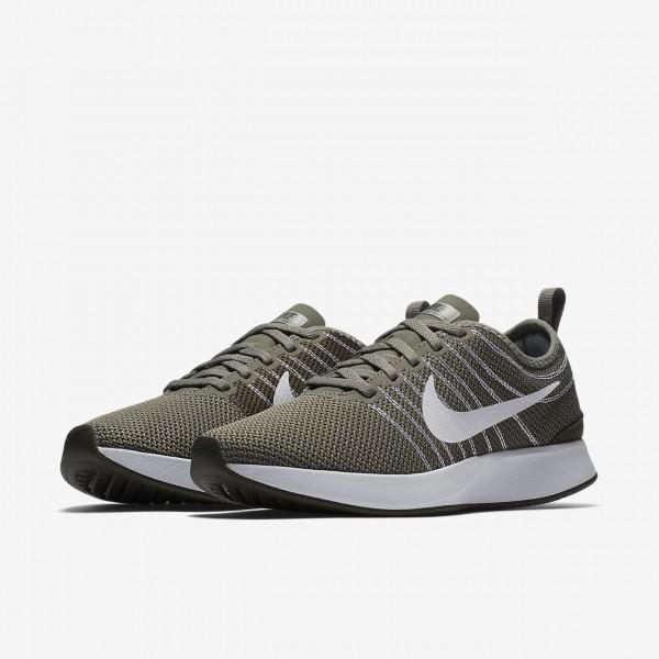 Nike Dualtone Racer Freizeitschuhe Damen Dunkelolive Khaki Weiß 802-31007