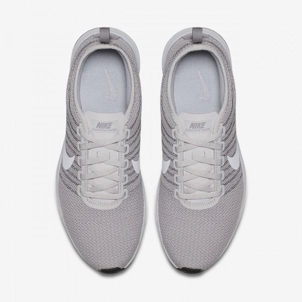 Nike Dualtone Racer Freizeitschuhe Damen Grau Weiß 793-85255
