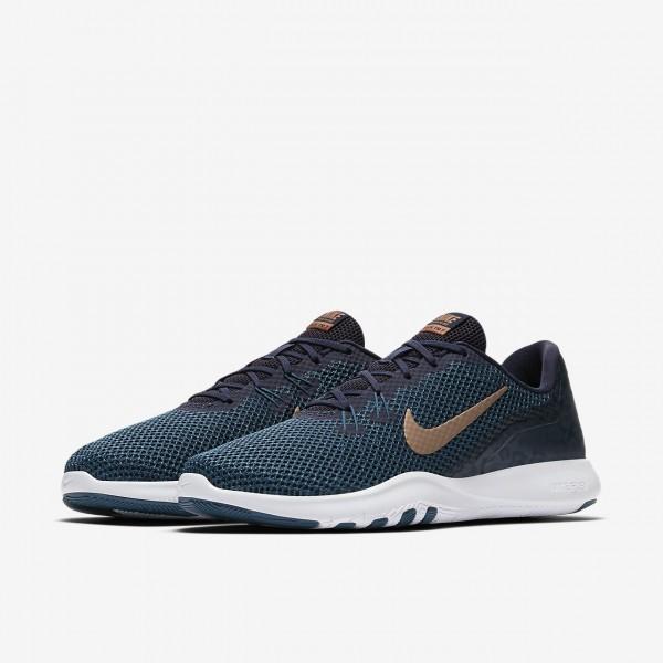 Nike Flex Tr 7 Print Trainingsschuhe Damen Obsidian Blau Metallic Rot Bronze 138-40173