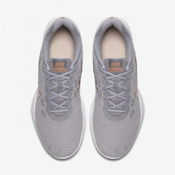Nike Flex Tr 7 Print Trainingsschuhe Damen Grau Rot Metallic Rot Bronze 700-23025