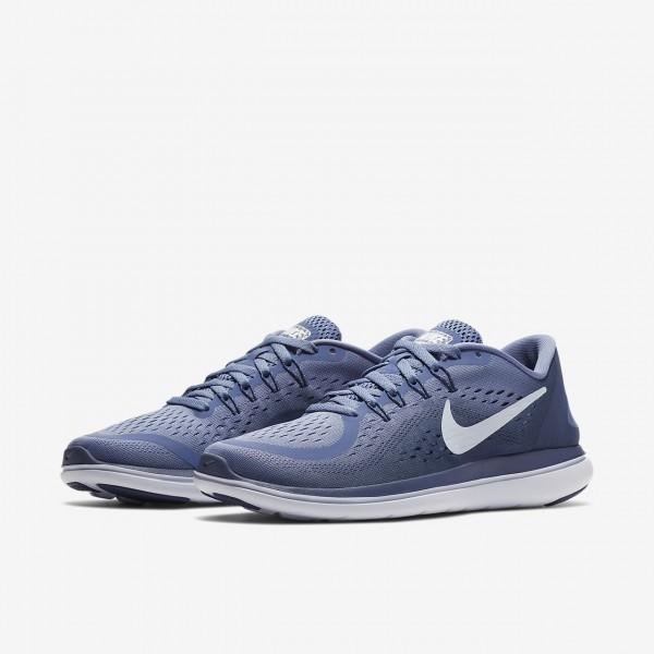 Nike Flex 2017 Rn Laufschuhe Damen Lila Blau Weiß 285-28467