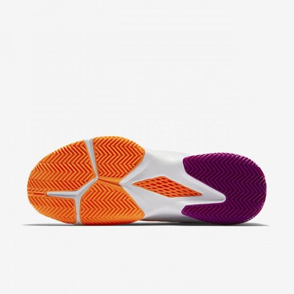 Nike Court Air Zoom Ultra Clay Tennisschuhe Damen Weiß Platin Lila Orange 211-72786