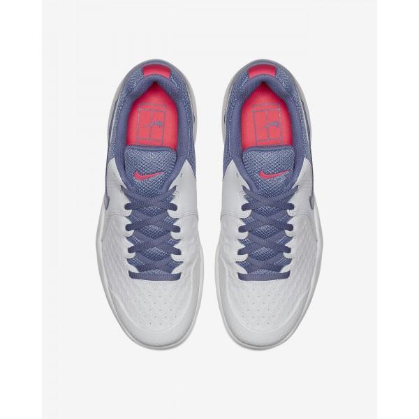 Nike Court Air Zoom Resistance Tennisschuhe Damen Weiß Pink Lila 435-61497