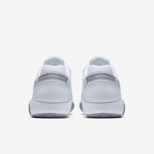 Nike Court Air Zoom Resistance Tennisschuhe Damen Weiß Grau Metallic Silber 237-72315