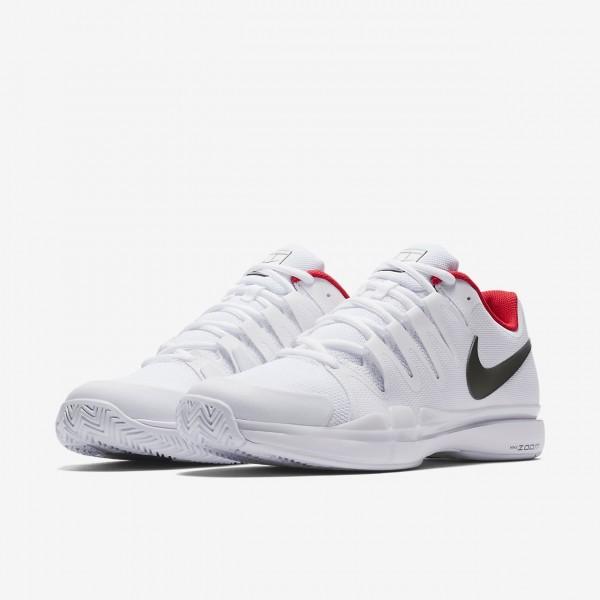 Nike Court Zoom Vapor 9 5 Tour Qs Tennisschuhe Damen Weiß Rot Metallic Dunkelgrau 605-24281