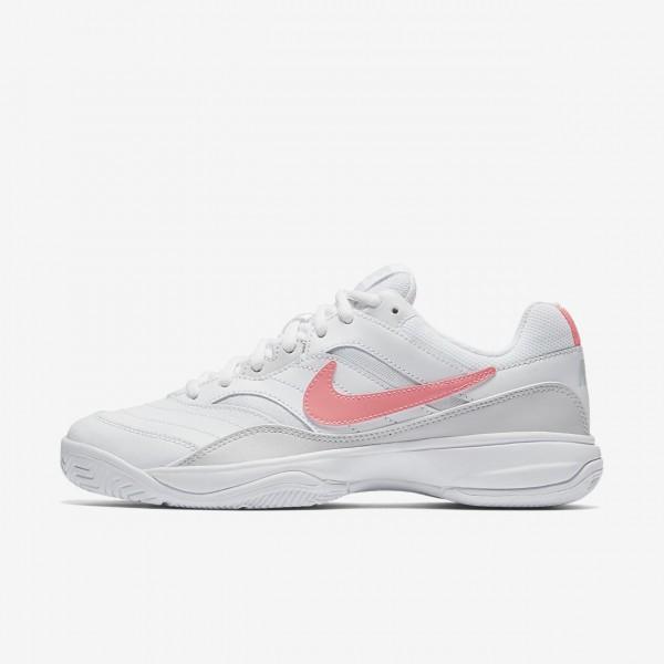 Nike Court Lite Tennisschuhe Damen Weiß Grau Rosa...