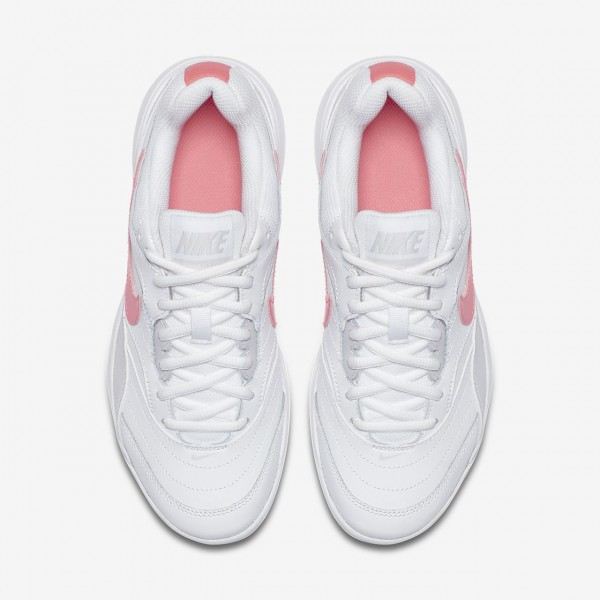 Nike Court Lite Tennisschuhe Damen Weiß Grau Rosa 932-48165