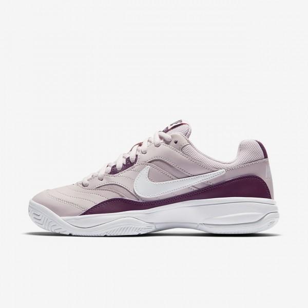 Nike Court Lite Tennisschuhe Damen Rosa Weiß Lila...